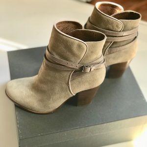 All Saints Suede Booties - Victoria Heel Boot